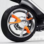 《潮酷文創》GOGORO幻彩輪框-V型 輪圈貼 輪框變色貼 車膜 / GV007橘色