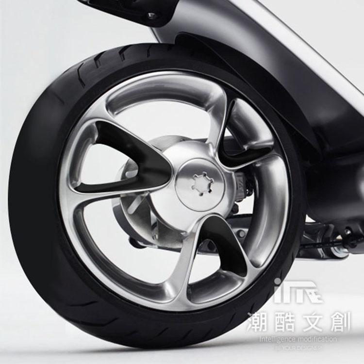 《潮酷文創》GOGORO幻彩輪框-V型 輪圈貼 輪框變色貼 車膜 / GV011黑色
