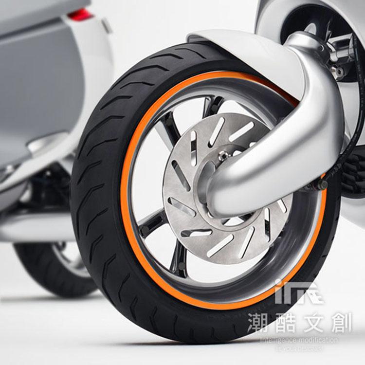 《潮酷文創》GOGORO幻彩輪框-圓型 輪圈貼 輪框變色貼 車膜 / GC007橘色