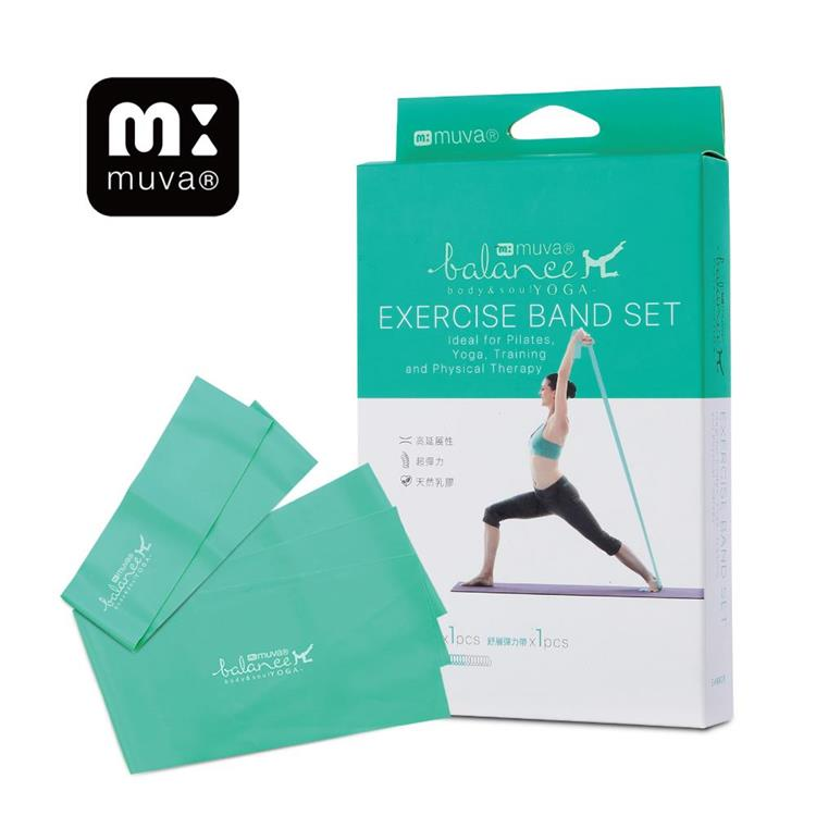 muva 瑜珈舒展彈力組-薄荷中量級