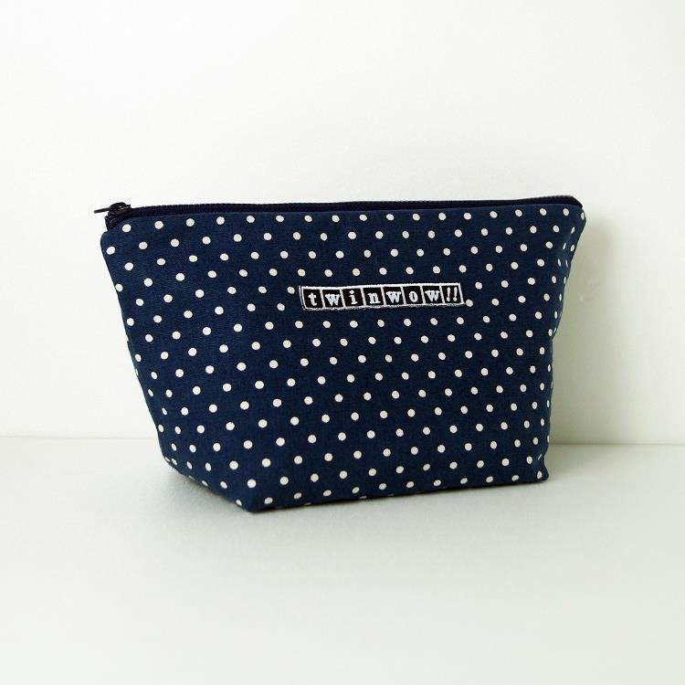 twinwow - 貼心時尚 - 細緻質感化妝包 - 點點藍