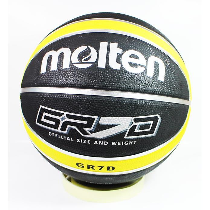MOLTEN BGR7D-KY 黑x黃 籃球 深溝 GR7D 7號球 附球帶球針