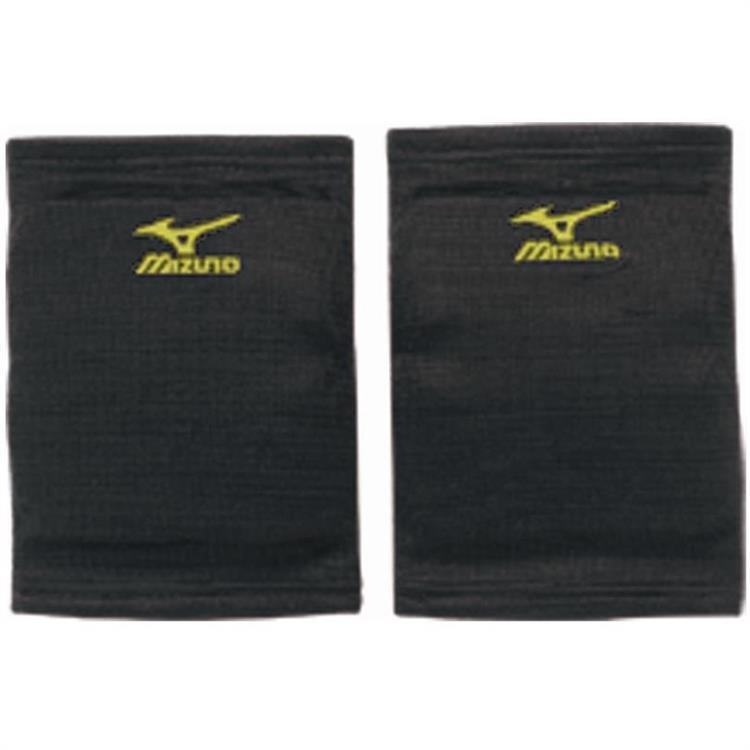 MIZUNO 美津濃 吸震易彎曲 吸濕排汗 薄型運動用護膝 V2TY600694 黑x檸黃