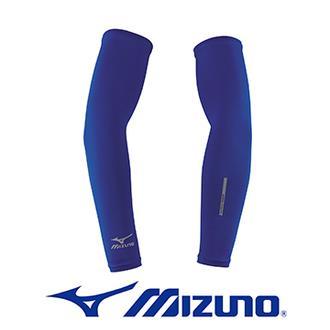 MIZUNO 美津濃 防曬 抗UV 吸汗 快乾 伸展性優 運動袖套 32TY4G0216(深藍)