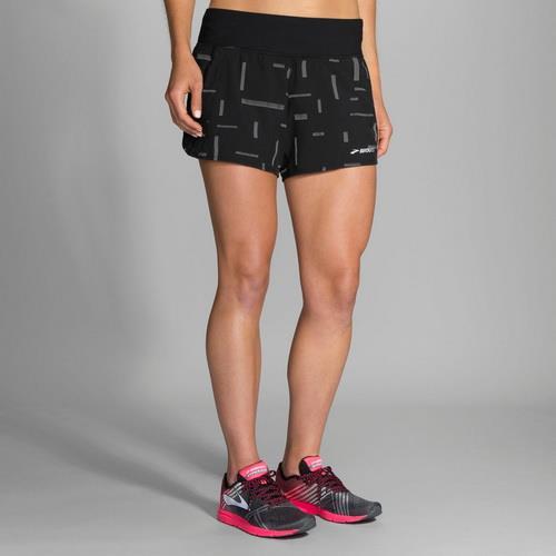 BROOKS  Chaser 吸濕 排汗 慢跑 低腰 短褲 彗星 反光 BK221040076(女