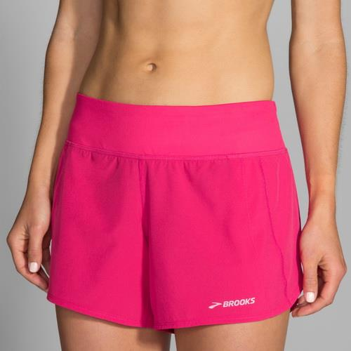 BROOKS  Chaser 吸濕 排汗 慢跑 低腰 短褲  BK221040689(女 牡丹紅短褲
