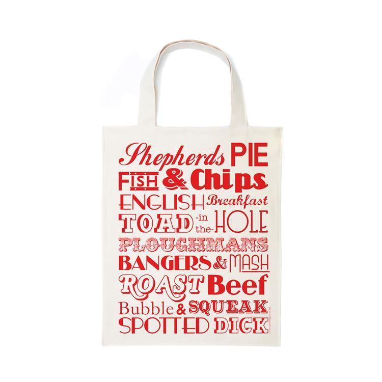 英國蛋 純棉帆布包 英格蘭晚餐 (紅色)