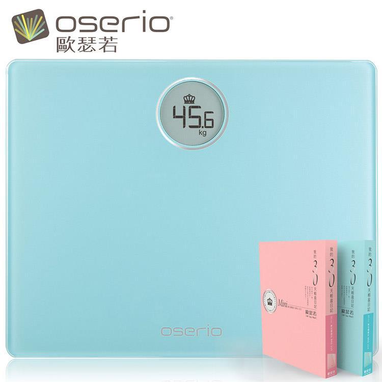 oserio 歐瑟若 Mini數位體重計精裝版 BRG-215LG(湖水綠)