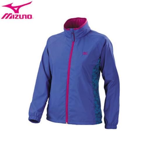 MIZUNO 美津濃(女)發熱內裡 迷彩印刷 風衣外套 32TE678324(藍紫)