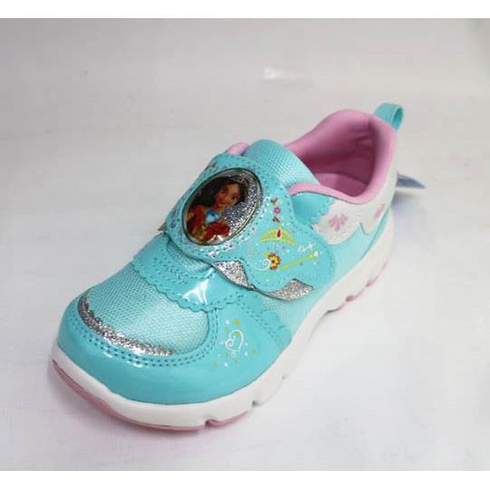 Moonstar日本機能 迪士尼公主 運動鞋 魔鬼氈 2E寬楦   舒適 童鞋DNC12057