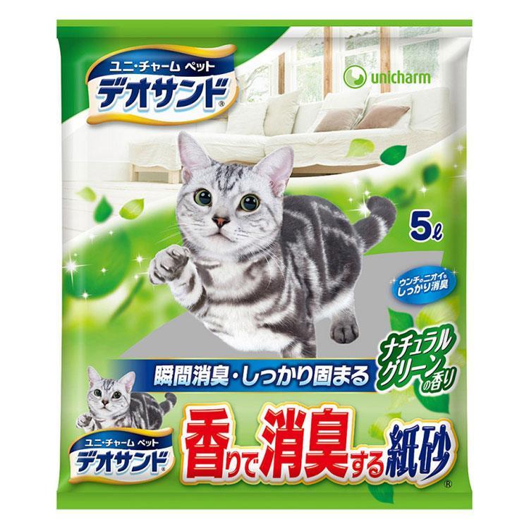 日本Unicharm消臭大師瞬間消臭紙砂-森林香(5L x 6包/箱)