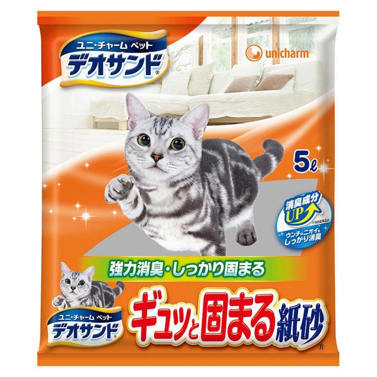 日本Unicharm消臭大師瞬間結團紙砂(5L x 6包/箱)