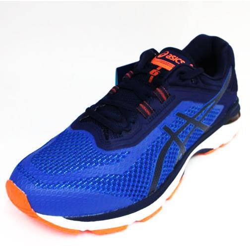ASICS 男GT-2000 6  高緩衝 支撐 亞瑟膠慢跑鞋 T805N-4549藍橘