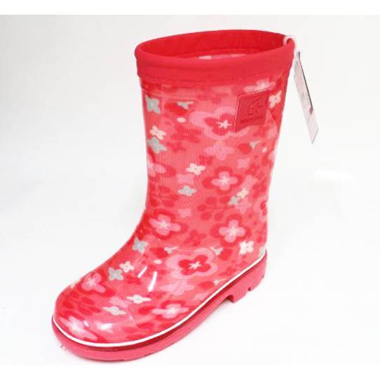 Moonstar 月星 日本製 輕量止滑耐磨 機能 童鞋 高筒 雨鞋 水鞋 MSRBC654(粉)