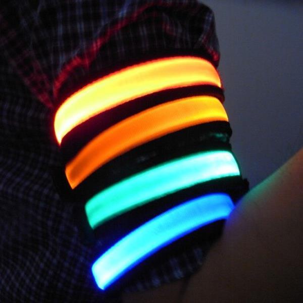 螢光夜光夜跑七彩LED手臂套環/寵物項圈/運動閃光手環(隨機出貨)