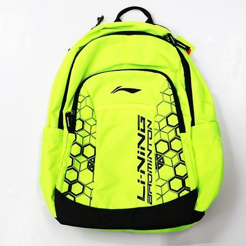 【LI-NING】李寧LNABJN014-4 羽球專用後背包 螢光綠