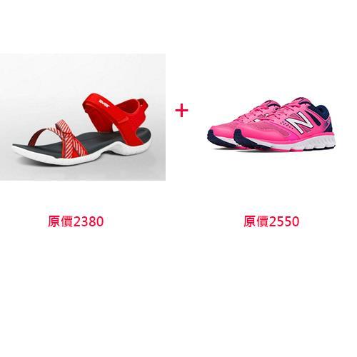 TEVA 女款水陸運動涼鞋 TV1006263BSRD+NB 慢跑鞋 D楦 女鞋 W675PN 桃