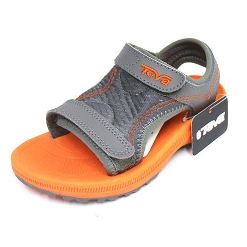 0574c84fbb7b TEVA 兒童護腳背涼鞋避震耐磨抗菌防臭TV100638GORN (橘 灰