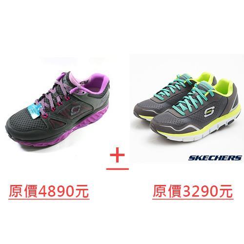 {US9.5}SKECHERS(女)慢跑鞋SRR訓練專用88888037CCPR+57051CCY