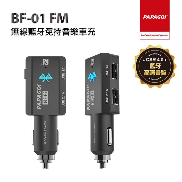 PAPAGO BF-01 FM無線藍牙免持音樂車充