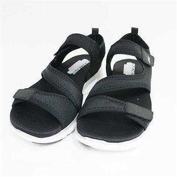 SKECHERS 女款 涼鞋 FLEX APPEAL 2.0 記憶型鞋墊 魔鬼氈 -39075BLK