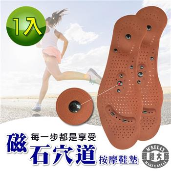 【輕鬆大師】8D磁氣按摩調整型鞋墊-(1雙)