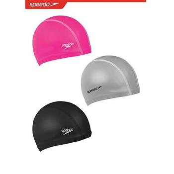 SPEEDO成人 進階型 合成泳帽 Pace- SD872064----黑/粉/銀