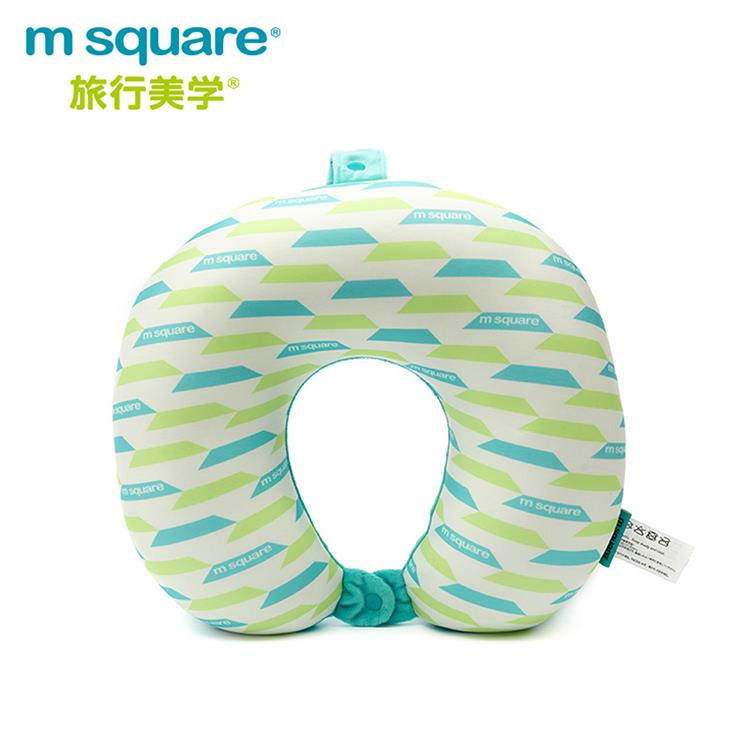 m square U型頸枕馬卡龍系列-藍綠