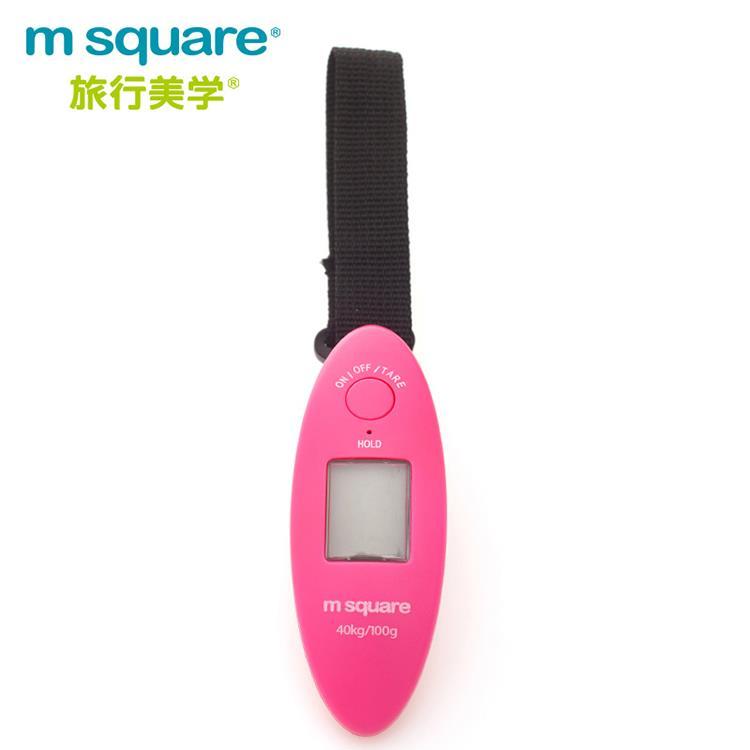 m square隨身電子秤-桃紅