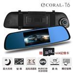 CORAL T6 星光夜視觸控雙鏡頭測速ADAS行車記錄器(附贈16G)