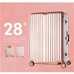 【dayneeds】經典鋁框行李箱【28吋】銀/玫瑰 LK-8015