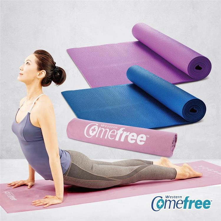 Comefree瑜珈彈力墊+超細纖維吸汗止滑瑜珈鋪巾