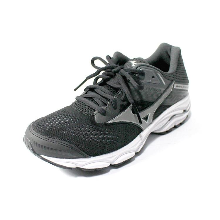(A2) 女/美津濃WAVE-INSPIRE15 支撐型寬楦慢跑鞋- J1GD194651(黑)