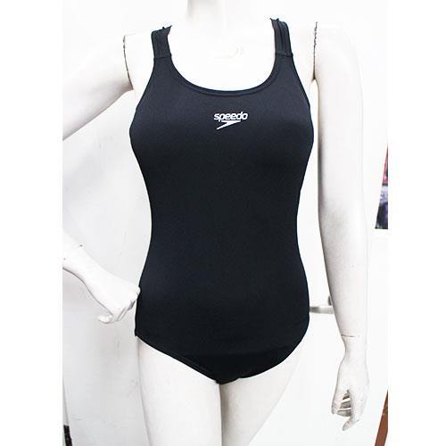 (A3) SPEEDO 女款 運動 連身泳裝 Endurance+ Medalist 黑 - SD8