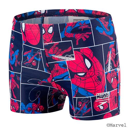 (A3) SPEEDO 男童 休閒四角泳褲 蜘蛛人 海軍藍/紅 - SD805394C887