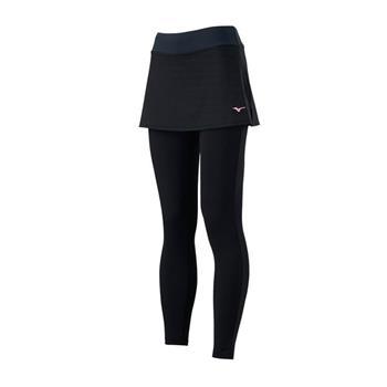 (A3)【MIZUNO 美津濃】女 褲裙  瑜珈 健走 訓練 吸汗 快乾 黑 K2TB923109