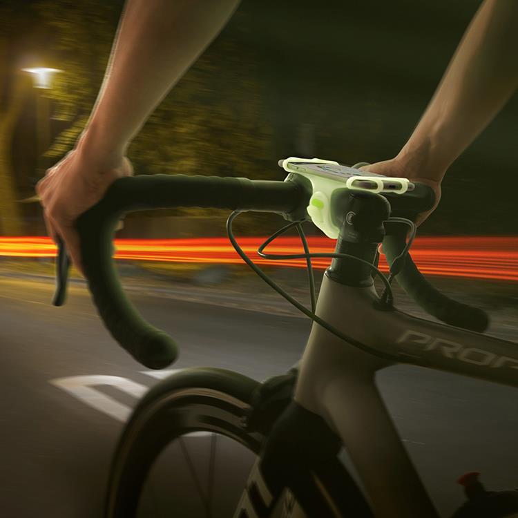 【Bone】單車手機龍頭綁 Bike Tie Pro -夜光綠