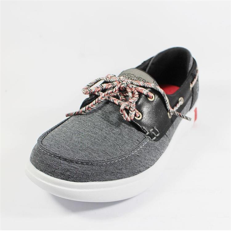 SKECHERS 休閒鞋 Ultra-Playa 女 船型鞋 輕量 瑜珈鞋墊 黑灰 16110BKW
