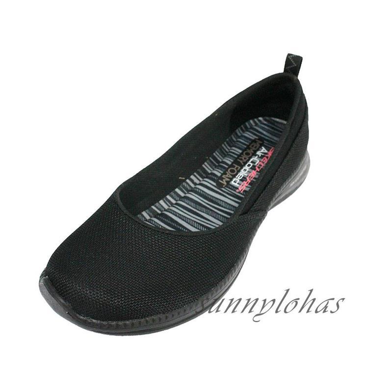 SKECHERS(女)健走鞋 平底鞋 娃娃鞋 工作鞋 上班族 23717BBK黑