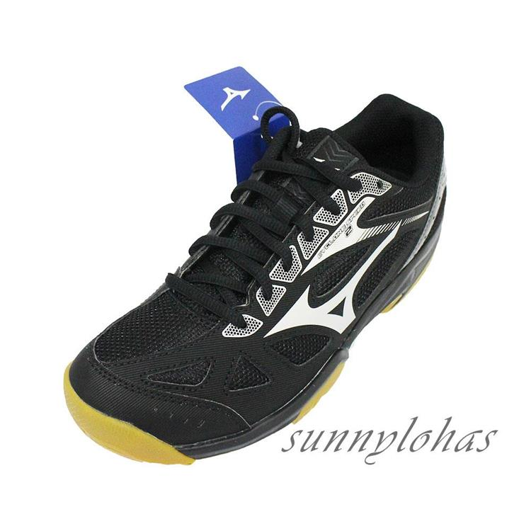 MIZUNO美津濃 (女) CYCLONE SPEED 2 排球鞋 羽球鞋 V1GC198004黑灰