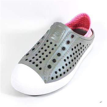 (A5)SKECHERS 童鞋 水鞋系列 Aqua Surge洞洞鞋 86958LGYPK 灰粉