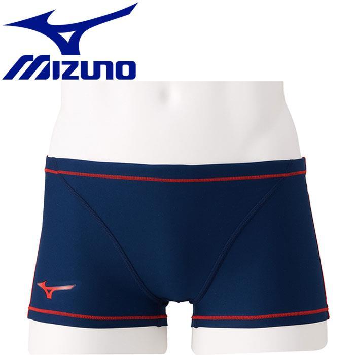 MIZUNO 美津濃 男 EXER SUITS 泳褲 四角 N2MB806086 深藍