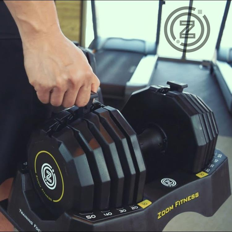 Zoom Fitness 50LB 調整式啞鈴 [單支售] 50LB ADJUSTABLE DUMB