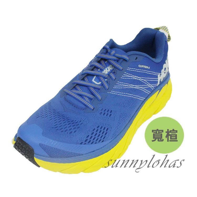 Hoka One One 男 Clifton 6 超緩震慢跑鞋 寬楦 HO1102876NBLM 藍