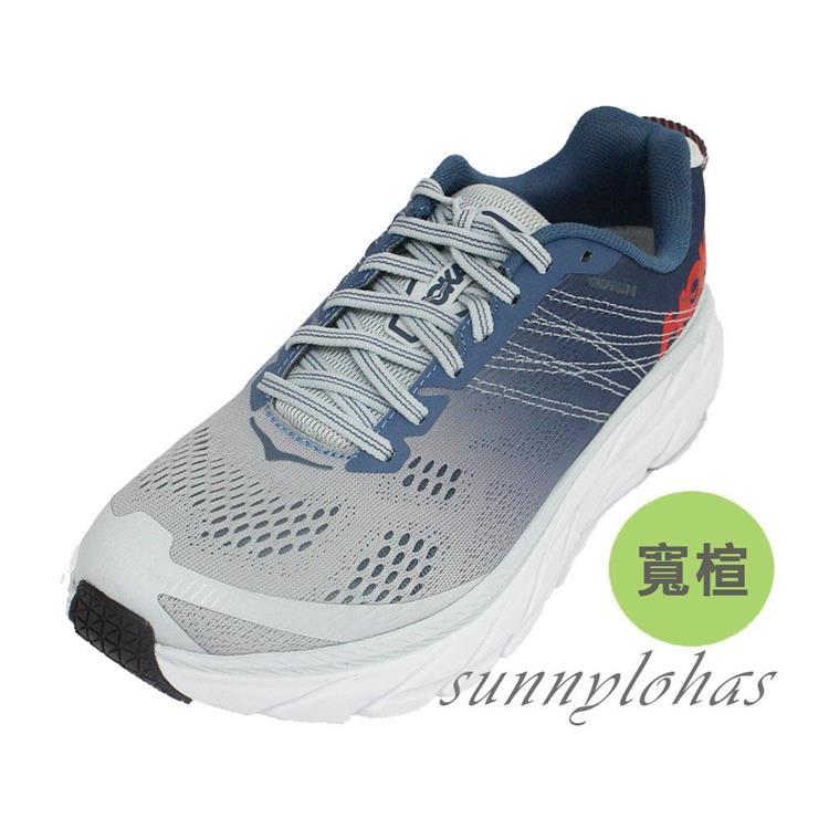 Hoka One One 女 Clifton 6 超緩震慢跑鞋 寬楦HO1102877PAMB 光藍