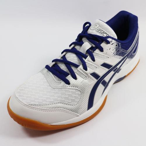 (A9) ASICS 男 排羽球鞋 GEL-ROCKET 9 - 1072A034-102 白x藍
