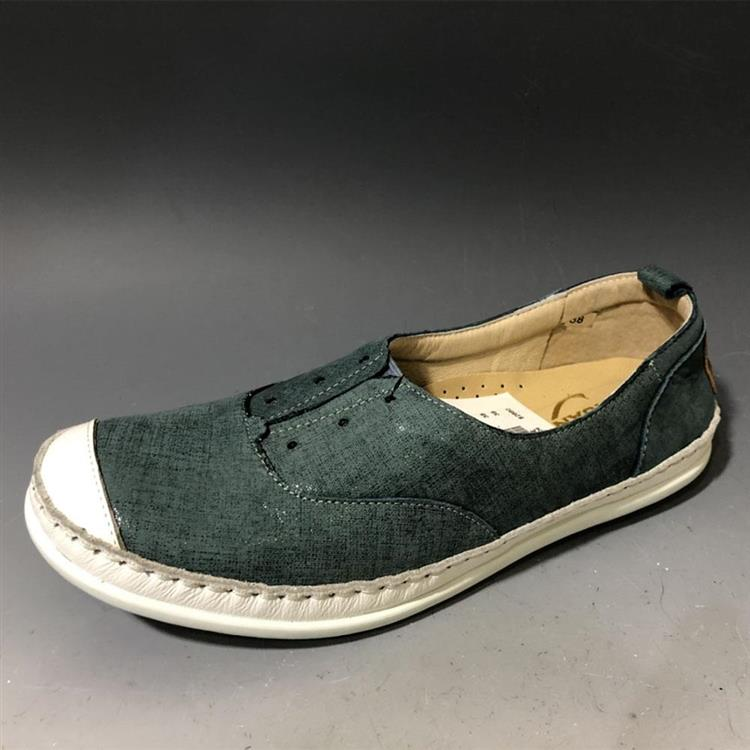 免運 CHUAN BA 穿吧 女鞋 全牛皮鞋 健走鞋 台灣製MIT 透氣 CBD10203藍綠紗牛皮