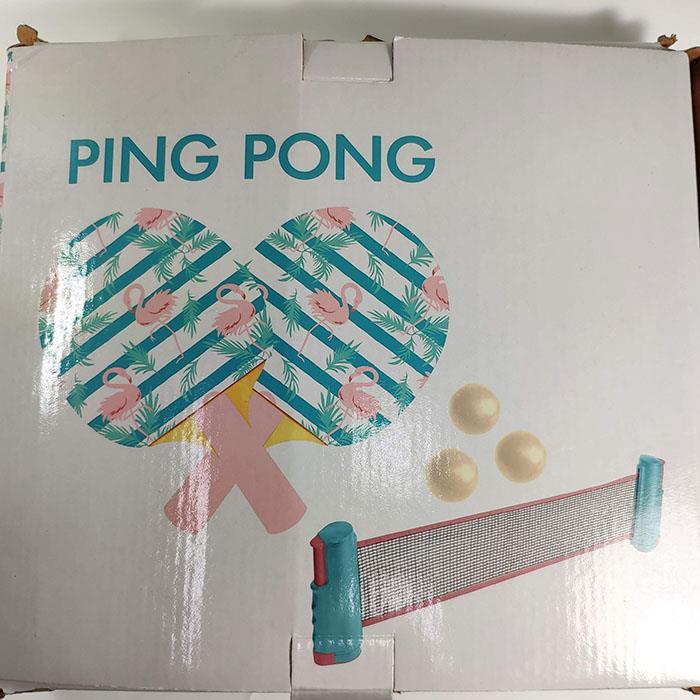 可攜式桌球網套組 桌拍 桌球網 兩桌拍兩球衣桌球網