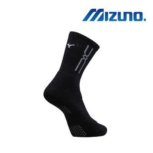 (AX) 美津濃MIZUNO 男款運動厚底襪 1組2雙 - 32TX90G891Q(黑x白)