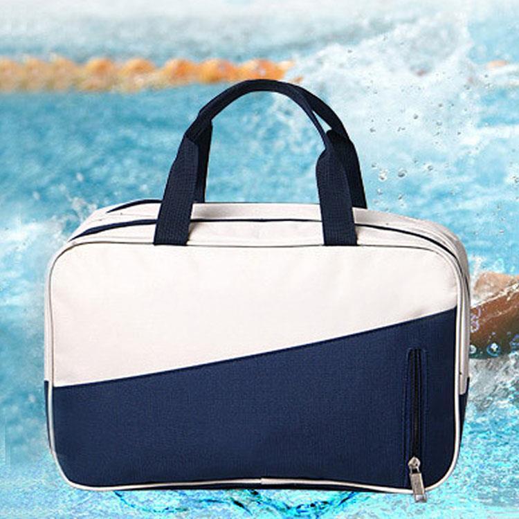 乾濕分離戶外運動米藍撞色游泳收納包